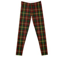 00109 Maple Leaf District Tartan  Leggings