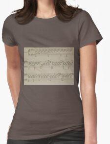 Moonlight Sonata Womens Fitted T-Shirt