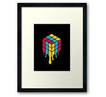 the Melting Rubik Framed Print