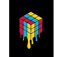 the Melting Rubik Photographic Print