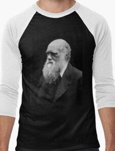 Darwin portrait Men's Baseball ¾ T-Shirt