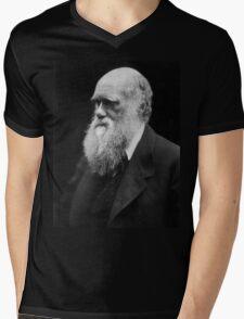 Darwin portrait Mens V-Neck T-Shirt