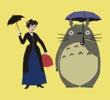 Mary Poppin and totoro umbrela One Piece - Short Sleeve