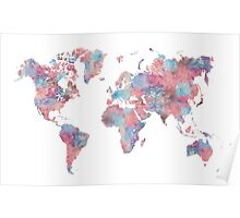 Wanderlust World Map Poster