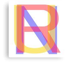"""RUN"" typography Canvas Print"