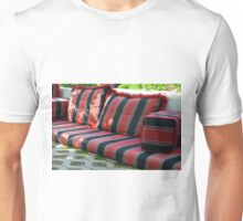 Comfortable seating arrangement in the park. Unisex T-Shirt