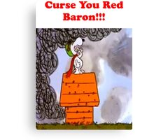 Curse you Red Baron! Canvas Print