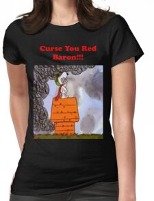 Curse you Red Baron! Womens Fitted T-Shirt