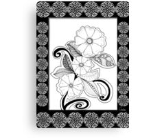 Zen Flowers Canvas Print