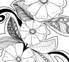 Zen Flowers Sticker
