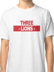 "Team England: ""THREE LIONS"" (light shades) Classic T-Shirt"