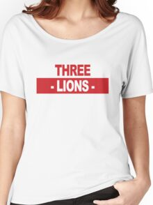 "Team England: ""THREE LIONS"" (light shades) Women's Relaxed Fit T-Shirt"