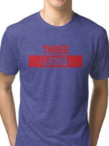 "Team England: ""THREE LIONS"" (light shades) Tri-blend T-Shirt"