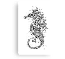 Sugar Skull Seahorse Canvas Print