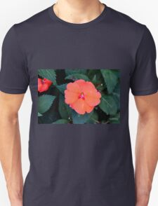 Orange flowers between green leaves. T-Shirt