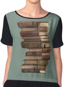 Stack of Books Chiffon Top