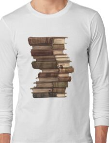 Stack of Books Long Sleeve T-Shirt