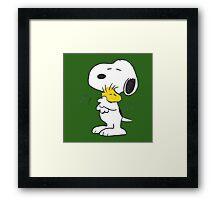 hug Peanuts Snoopy Framed Print