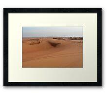 Sand dunes, desert natural background. Framed Print