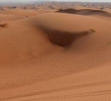Sand dunes, desert natural background. Sticker