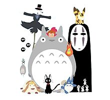 Studio Ghibli Gang Photographic Print