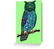 Patterned Owl Greeting Card