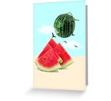 watermelon imaginary Greeting Card