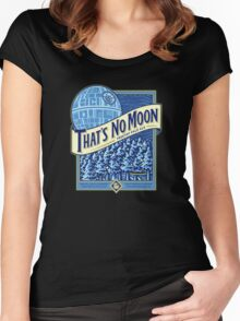 Thats no moon Women's Fitted Scoop T-Shirt