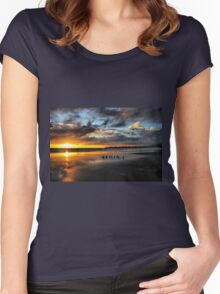 Sunset at Stinson Women's Fitted Scoop T-Shirt