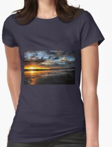 Sunset at Stinson Womens Fitted T-Shirt