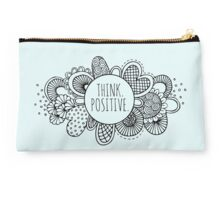 Think Positive Doodle Artwork Studio Pouch