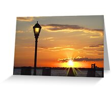 Battery Park Sunset Greeting Card