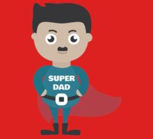 dad super for fams Kids Tee
