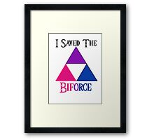 I Saved The Bi-force Framed Print