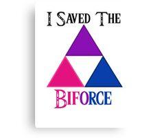 I Saved The Bi-force Canvas Print