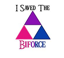 I Saved The Bi-force Photographic Print