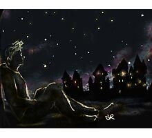 Draco and the night sky Photographic Print