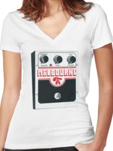 Melbourne Women's Fitted V-Neck T-Shirt