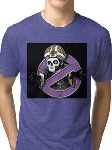 ghost bc black cartoon Tri-blend T-Shirt