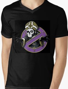 ghost bc black cartoon Mens V-Neck T-Shirt