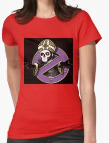 ghost bc black cartoon Womens Fitted T-Shirt