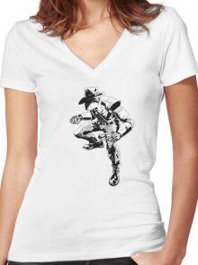 Deadbolt Women's Fitted V-Neck T-Shirt