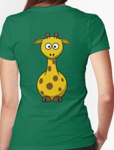 Cute Giraffe Womens Fitted T-Shirt