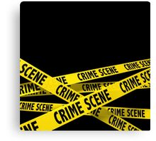 Crime Scene Canvas Print