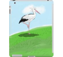 a stork on the hill iPad Case/Skin