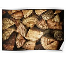 chopped wood Poster