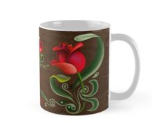 FOLKART ~ Red Tulip by tasmanianartist Mug
