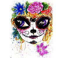 Sugar Girl in Flower Crown 4 Photographic Print