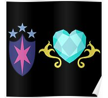 My little Pony - Shining Armor + Princess Cadence Cutie Mark V3 Poster