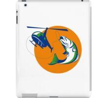 Barramundi Heli Fishing Sun Retro iPad Case/Skin